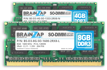 DDR3 Notebook Speicher (SO-DIMM 204 PIN)